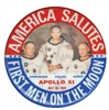 apollo xi commemorative button