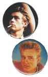james dean 2 fan buttons