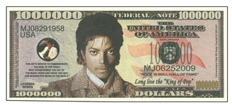 michael jackson commemorative souvenir note