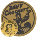 dave crockett vintage patch button
