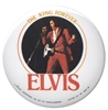 elvis presley the king of rock and roll button