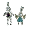 Sterling Silver Pendants with Birthstone CZ's - a Great Gift