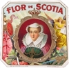Flor De Scotia Outer Box Cigar Label Featuring Queen Mary of Scotland