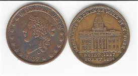 Politically Charged Hard Times Tokens 1830's and 1840's