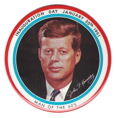 J.F.K. Inaugural Button - 6 Inches