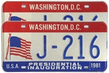 ronald reagan license plates