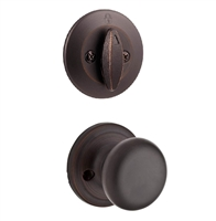 Kwikset - 604H - GC - Hancock - Single Cylinder Knob Inside Trim