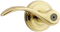 Kwikset - 730PML - Pembroke - Bed/Bath - Privacy Door Lever - Polished Brass X Polished Chrome