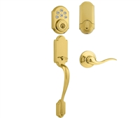 Kwikset - 815AN - TNL - 909 - Arlington - Entry Handleset X Tustin Lever with 909 - Smartcode Electronic Deadbolt