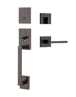 Kwikset - 819SCE - San Clemente - Inactive Dummy Entry Handleset with Halifax Lever & SmartKey