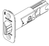 Kwikset - Adjustable - Radius - Spring - latch - Polished Chrome Finish