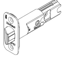 Kwikset - Adjustable - Radius - Spring - latch - Bright Brass Finish