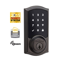 Kwikset - 916TRL - SMT - SmartCode - Zwave - Connected -Touchscreen Electronic Deadbolt - Venetian Bronze