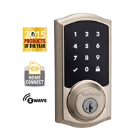 Kwikset - 916TRL - SMT - SmartCode - Zwave - Connected -Touchscreen Electronic Deadbolt - Satin Nickel