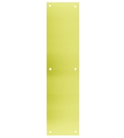 Don-Jo KP 6X34 Polished Brass Kick Plate