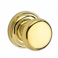 Baldwin - PS.ROU.TRR - Round - Hall/Closet - Passage Door Knob with Traditional Round Rosette