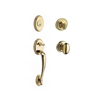 Baldwin - SC.COLxELL.TRR - Columbus - Single Cylinder Entry Handleset With Ellipse Knob and Traditional Round Rosette