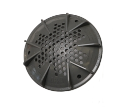 "A&A Manufacturing PDR2 10"" Main Drain Cover - Gray # 564885"