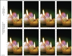 250-c Candles 8-Up Prayer Card