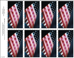 300-f American Flag with purple background 8-Up Prayer Card