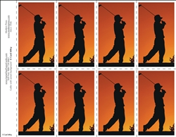 400-g Golfer at sunset 8-Up Prayer Card