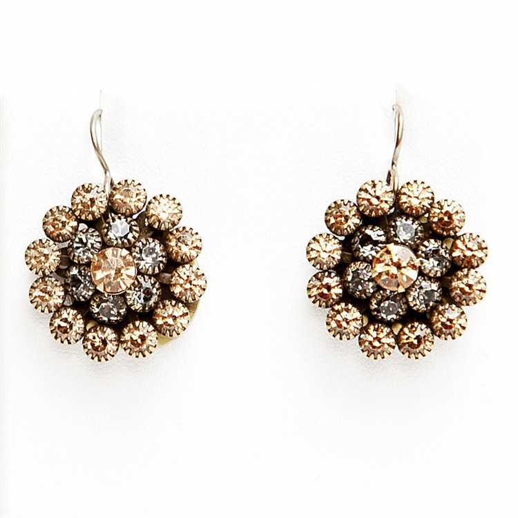 "Our beautiful Milly Love Drop Earrings in sweet Toffee shades. The perfect amount of sparkle with any outfit. 1.4"" drop."