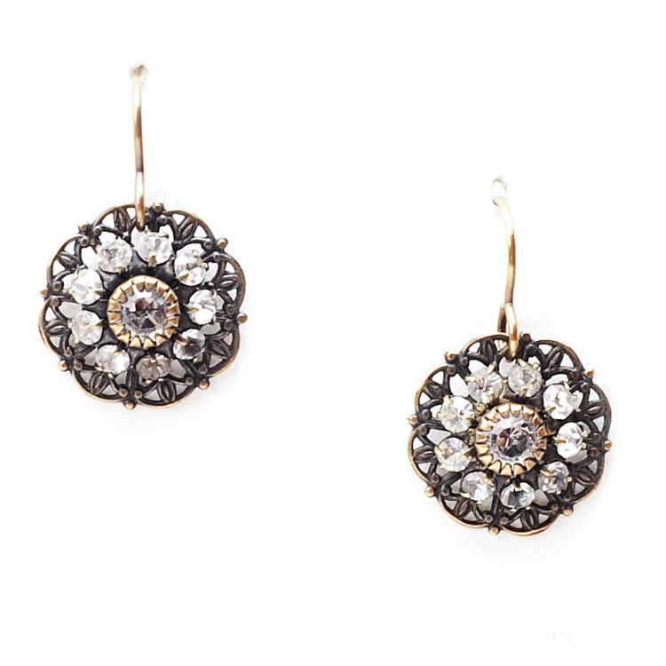 "A petite version of our beautiful Lace Love Drop earrings that are sure to get noticed. 1.25"" drop."