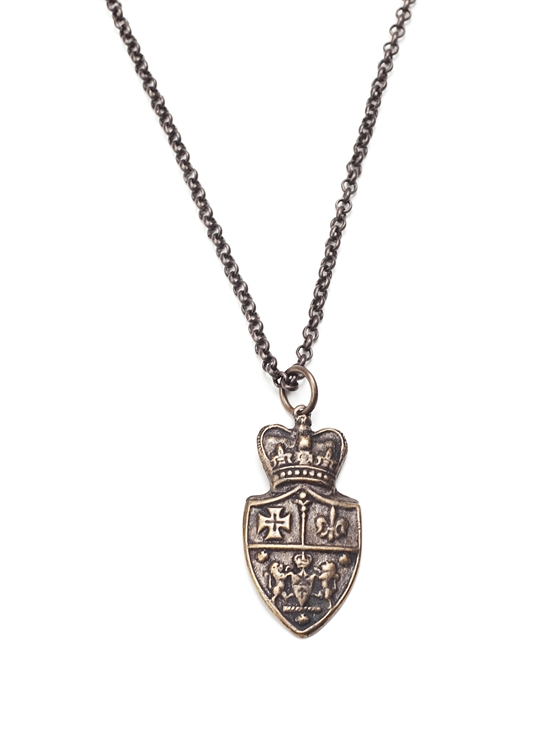 Royal and Regal Crest Necklace sits gracefully against any outfit. 18""