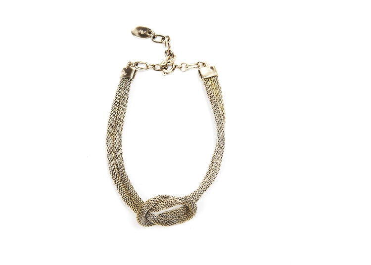 "SV Couture Love Knot Bracelet with an Antique finish, 7"" in length.  Adjustable. SV tag. #jewelryforacause"