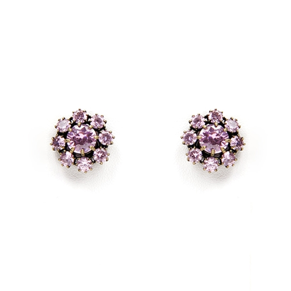 Sparkling crystals are used in our most popular antique inspired post earrings. Earrings are for pierced ears.  Perfect to wear from day into night! Available in Clear Clear, Pink Crystal or Black Diamond Crystal.