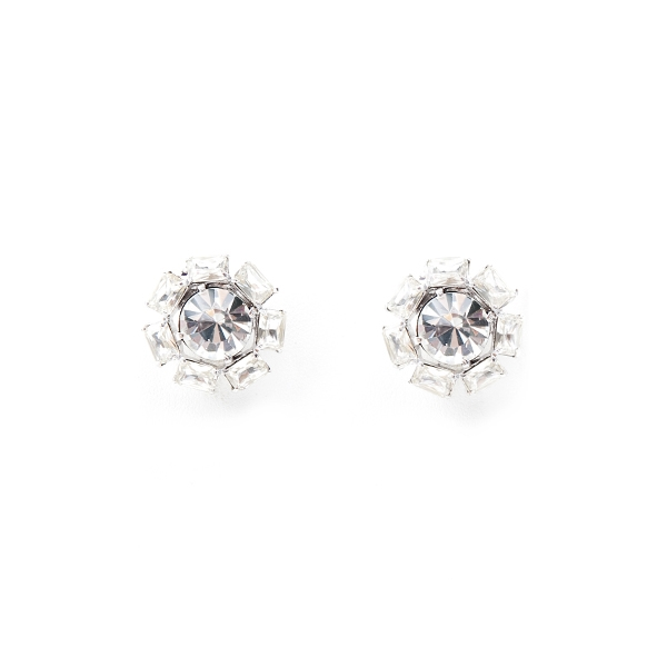 Sparkling crystals are used in our vintage inspired stud earrings are for pierced ears.  Perfect to wear from day into night! Post earrings.  #jewelryforacause #findacure