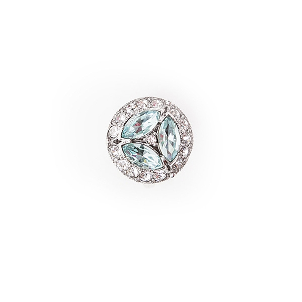 Make a statement with our antique inspired aquamarine and clear crystal cocktail ring.  Size: Adjustable. 50% of sales will be donated back to Stand Up 2 Cancer! #jewelryforacause #findacure