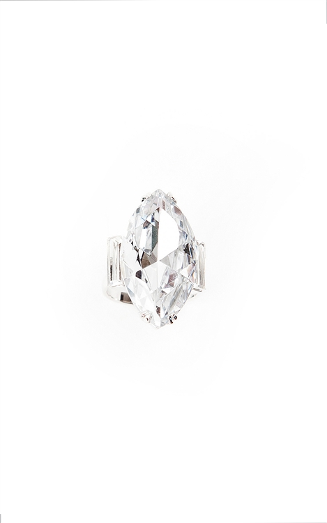 Make a statement with a cause with our marquise cocktail ring.  Size: Adjustable.50% of sales will be donated to Stand Up 2 Cancer. #jewelryforacause