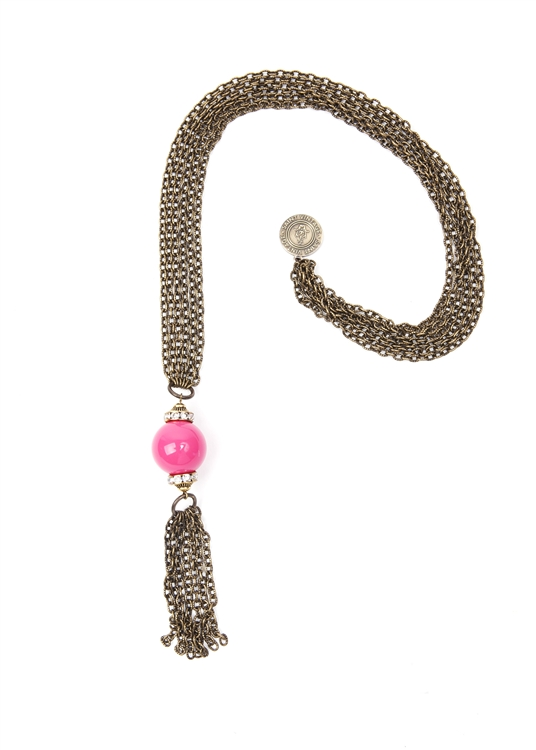 Mary Anne Gumball Tassel Necklace