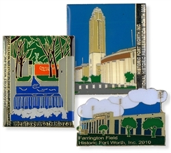 National Preservation Month Lapel Pins - Set of Three