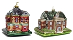 Ball-Eddleman-McFarland House and Thistle Hill Ornament Set