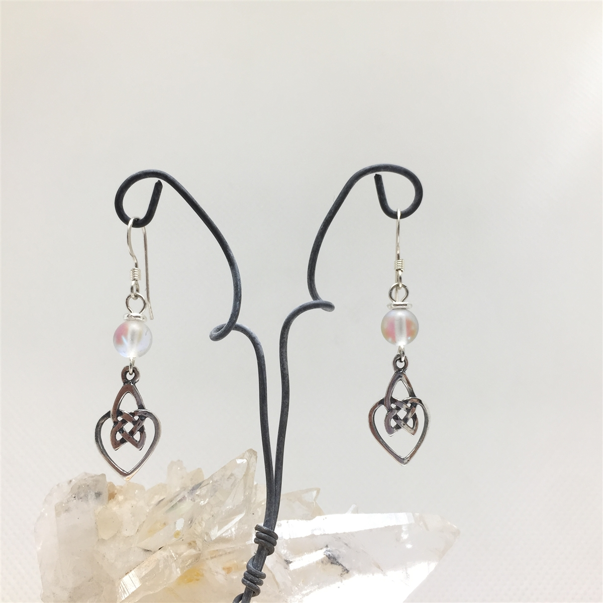 products earrings crystal dog heart