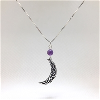 Celtic Moon Necklace Uncommon Adornments