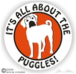 Puggle Decal