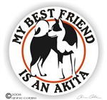 Akita Window Decal