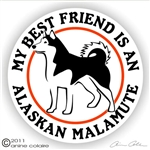 Alaskan Malamute Decal