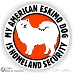 American Eskimo Decal