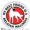Belgian Malinois Window Decal