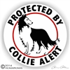 Scottish Collie Guard Dog Car Truck RV Decal Sticker Static Cling