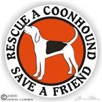 Coonhound Decal