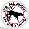 Bird Dog Gun Dog Sticker Static Cling Decal