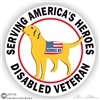 Labrador Retriever Service Dog Adhesive Sticker or Static Cling