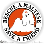 Maltese Decal