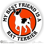 Rat Terrier Decal