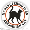 Abyssinian Cat Decal
